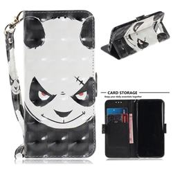 Angry Bear 3D Painted Leather Wallet Phone Case for Samsung Galaxy S8