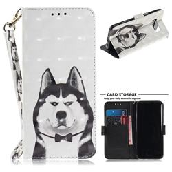 Husky Dog 3D Painted Leather Wallet Phone Case for Samsung Galaxy S8