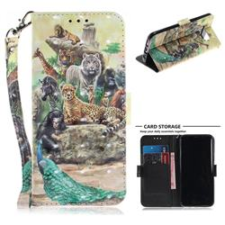 Beast Zoo 3D Painted Leather Wallet Phone Case for Samsung Galaxy S8