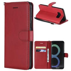 Retro Greek Classic Smooth PU Leather Wallet Phone Case for Samsung Galaxy S8 - Red