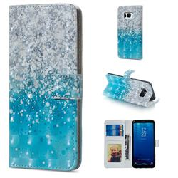 Sea Sand 3D Painted Leather Phone Wallet Case for Samsung Galaxy S8