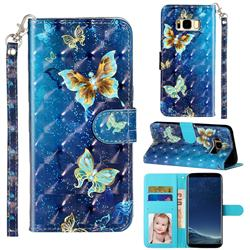 Rankine Butterfly 3D Leather Phone Holster Wallet Case for Samsung Galaxy S8
