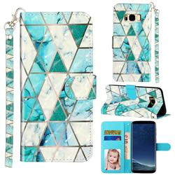 Stitching Marble 3D Leather Phone Holster Wallet Case for Samsung Galaxy S8
