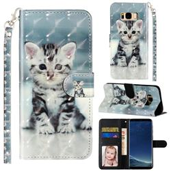 Kitten Cat 3D Leather Phone Holster Wallet Case for Samsung Galaxy S8