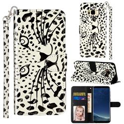 Leopard Panther 3D Leather Phone Holster Wallet Case for Samsung Galaxy S8