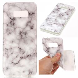 Smoke White Soft TPU Marble Pattern Case for Samsung Galaxy S8 Plus S8+