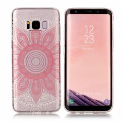 Pink Mandala Super Clear Soft TPU Back Cover for Samsung Galaxy S8 Plus S8+
