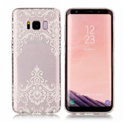 Diagonal Lace Super Clear Soft TPU Back Cover for Samsung Galaxy S8 Plus S8+