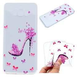 Petal High Heels Super Clear Soft TPU Back Cover for Samsung Galaxy S8 Plus S8+