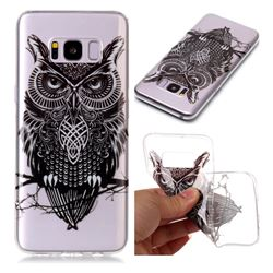Staring Owl Super Clear Soft TPU Back Cover for Samsung Galaxy S8 Plus S8+