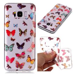 Colorful Butterfly Super Clear Soft TPU Back Cover for Samsung Galaxy S8 Plus S8+