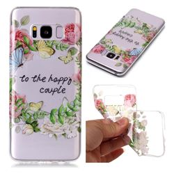 Green Leaf Rose Super Clear Soft TPU Back Cover for Samsung Galaxy S8 Plus S8+