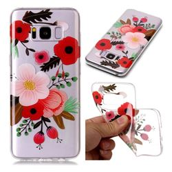 Painting Flowers Super Clear Soft TPU Back Cover for Samsung Galaxy S8 Plus S8+