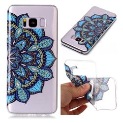 Peacock flower Super Clear Soft TPU Back Cover for Samsung Galaxy S8 Plus S8+