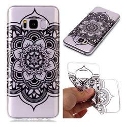 Black Mandala Flower Super Clear Soft TPU Back Cover for Samsung Galaxy S8 Plus S8+