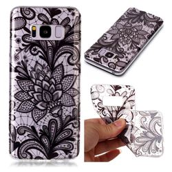 Black Rose Super Clear Soft TPU Back Cover for Samsung Galaxy S8 Plus S8+