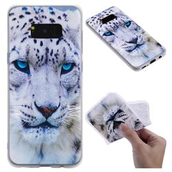White Leopard 3D Relief Matte Soft TPU Back Cover for Samsung Galaxy S8 Plus S8+
