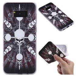 Compass Skulls 3D Relief Matte Soft TPU Back Cover for Samsung Galaxy S8 Plus S8+