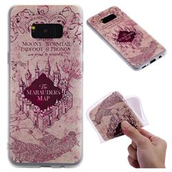 Castle The Marauders Map 3D Relief Matte Soft TPU Back Cover for Samsung Galaxy S8 Plus S8+