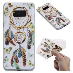 Color Wind Chimes 3D Relief Matte Soft TPU Back Cover for Samsung Galaxy S8 Plus S8+