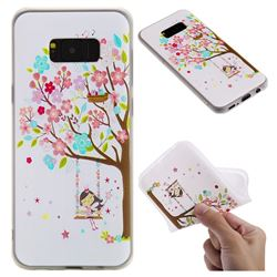 Tree and Girl 3D Relief Matte Soft TPU Back Cover for Samsung Galaxy S8 Plus S8+