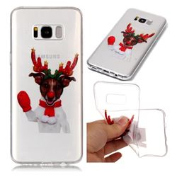 Red Gloves Elk Super Clear Soft TPU Back Cover for Samsung Galaxy S8 Plus S8+