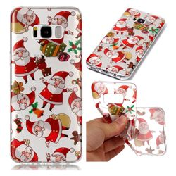 Santa Claus Super Clear Soft TPU Back Cover for Samsung Galaxy S8 Plus S8+