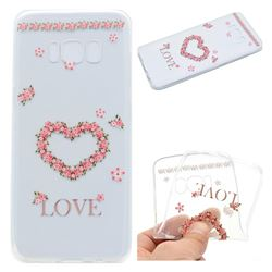Heart Garland Super Clear Soft TPU Back Cover for Samsung Galaxy S8 Plus S8+