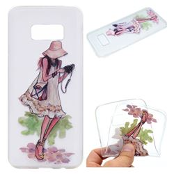 Travel Girl Super Clear Soft TPU Back Cover for Samsung Galaxy S8 Plus S8+