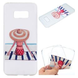 Beach Chair Girl Super Clear Soft TPU Back Cover for Samsung Galaxy S8 Plus S8+