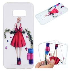Christmas Girl Super Clear Soft TPU Back Cover for Samsung Galaxy S8 Plus S8+