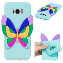 Rainbow Butterfly Soft 3D Silicone Case for Samsung Galaxy S8 Plus S8+