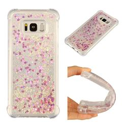 Dynamic Liquid Glitter Sand Quicksand Star TPU Case for Samsung Galaxy S8 Plus S8+ - Rose
