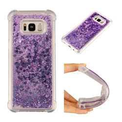 Dynamic Liquid Glitter Sand Quicksand Star TPU Case for Samsung Galaxy S8 Plus S8+ - Purple