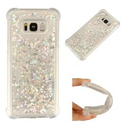 Dynamic Liquid Glitter Sand Quicksand Star TPU Case for Samsung Galaxy S8 Plus S8+ - Silver