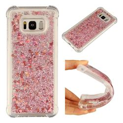 Dynamic Liquid Glitter Sand Quicksand Star TPU Case for Samsung Galaxy S8 Plus S8+ - Diamond Rose