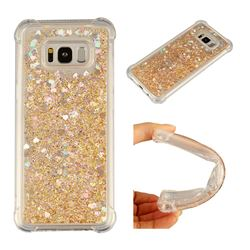 Dynamic Liquid Glitter Sand Quicksand Star TPU Case for Samsung Galaxy S8 Plus S8+ - Diamond Gold