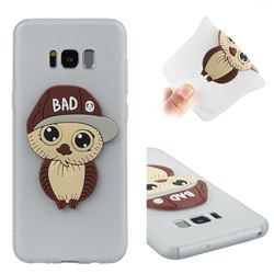 Bad Boy Owl Soft 3D Silicone Case for Samsung Galaxy S8 Plus S8+ - Translucent White