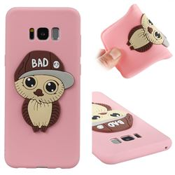 Bad Boy Owl Soft 3D Silicone Case for Samsung Galaxy S8 Plus S8+ - Pink
