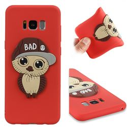 Bad Boy Owl Soft 3D Silicone Case for Samsung Galaxy S8 Plus S8+ - Red