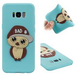 Bad Boy Owl Soft 3D Silicone Case for Samsung Galaxy S8 Plus S8+ - Sky Blue