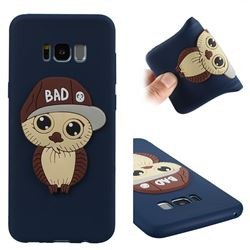 Bad Boy Owl Soft 3D Silicone Case for Samsung Galaxy S8 Plus S8+ - Navy