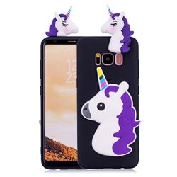 Unicorn Soft 3D Silicone Case for Samsung Galaxy S8 Plus S8+ - Black