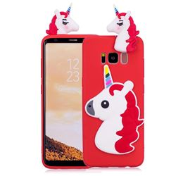 Unicorn Soft 3D Silicone Case for Samsung Galaxy S8 Plus S8+ - Red
