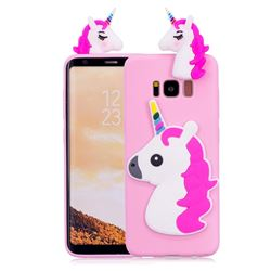 Unicorn Soft 3D Silicone Case for Samsung Galaxy S8 Plus S8+ - Rose