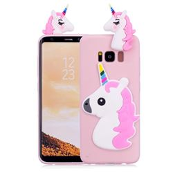 Unicorn Soft 3D Silicone Case for Samsung Galaxy S8 Plus S8+ - Pink