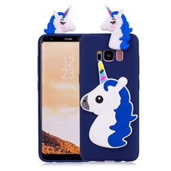 Unicorn Soft 3D Silicone Case for Samsung Galaxy S8 Plus S8+ - Dark Blue