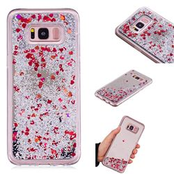 Glitter Sand Mirror Quicksand Dynamic Liquid Star TPU Case for Samsung Galaxy S8 Plus S8+ - Red