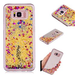 Glitter Sand Mirror Quicksand Dynamic Liquid Star TPU Case for Samsung Galaxy S8 Plus S8+ - Yellow
