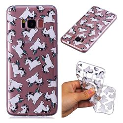 Pony Unicorn Super Clear Soft TPU Back Cover for Samsung Galaxy S8 Plus S8+